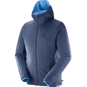 Salomon Drifter Hoodie Men Hawaiian Surf/Matador/Dress Blue